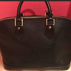 Authentic Black leather Epi Alma LV